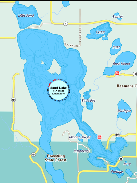 Minnesota Map With Lakes.Sand Lake Fishing Guide Walleye Crappie Perch Fishing And Favorite
