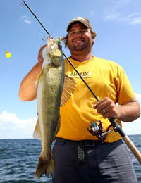 Walleye caught by Mike Christensen on a Wobble Bobber Rig