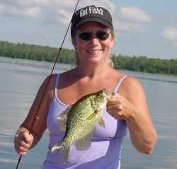 Marcia Newton with a nice Minnesota Crappie