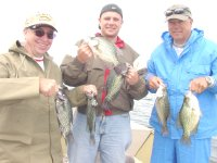 image of anglers with crappies