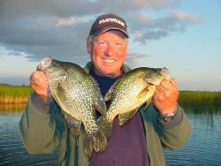image of crappie fishing guide with slab crappies