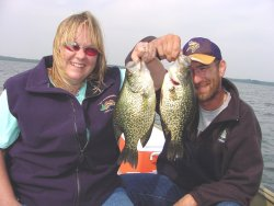fishing customers with big crappies
