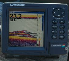 Crappies on Lowrance Screen