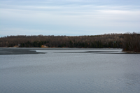 image of pokegama lake with open water