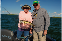 image of susan bolos with walleye