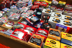 image of ice fishing line assortment