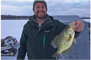 image of Jeff Hannan with big Crappie