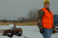image of annalee jones with pheasants
