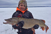 image of hayden picard with huge lake of the woods pike