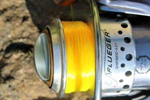 image of bright yellow fishing line