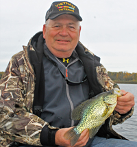 image of david with big crappie