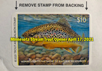 image of Minnesota Trout Stamp links to DNR Trout fishing page
