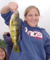image of becky goettl with big perch