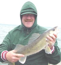 image of larry lashley with walleye