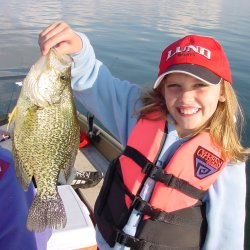 image of girl with huge crappie