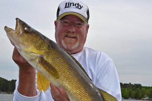 image of larry lashley with big walleye