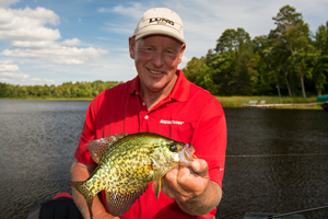 image of guide jeff sundin with big crappie