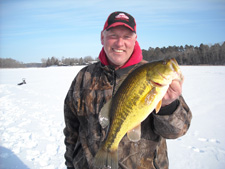 Largemouth Bass Ice Fishing