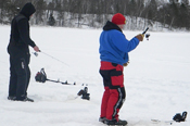 Ice Fishing Cutfoot Sioux