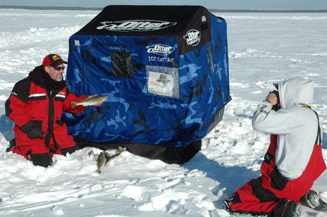 Leech lake ice fishing report by leech lake guide service for Red lake ice fishing