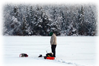 Ice Fishing Deer River