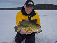 Ice Fishing Minnesota Bass