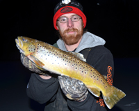 image of Nate Anderson holding Brown Trout