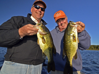 Paul Kautza and Dick Williams with a pair of Largemouth Bass