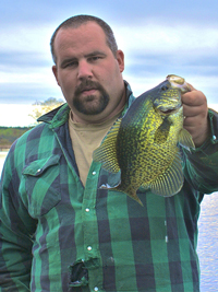 Crappie caught in Little Cutfoot Sioux