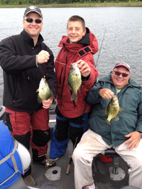 Crappies caught by Cullen Case and family on Cutfoot Sioux