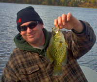 Crappie Caught by Justin on Bowstring Lake