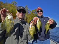 Crappies caught by Tim Higgins and Brian Shields