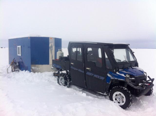 Diy Atv Shelter : Atv ice fishing setups