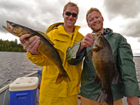 Walleye and Smallmouth caught on Kashabowie by Fritz and John Hauschild