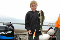 Maddux Schrupp With Red Lake Walleye