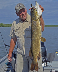 Northern Pike caught by Fishing Guide Jeff Sundin