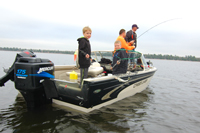 Family Fishing For Red Lake Walleye
