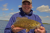 Smallmouth Bass caught by Paul Kautza during his stay in Grand Rapids