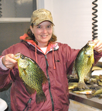 Crappies Caught on Bowstring Lake