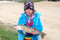 Kiana Hachey Caught Walleye On Bowstring Lake