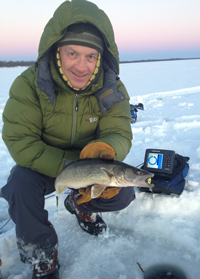Ice Fishing Walleye Winnibigoshish
