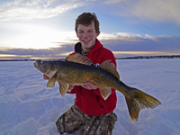 Walleye Ice Fishing Rainy Lake