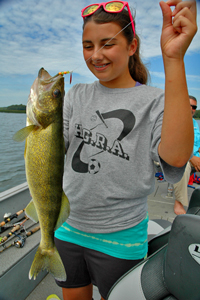 Walleye caught by Isabella Amore on Cutfoot Sioux