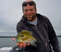 image of Chris Andresen holding nice Bluegill