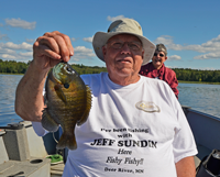 image of Mike Nolan holding big sunfish