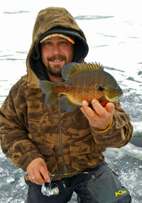 image of Zach Dagel with big Bluegill