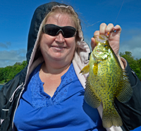 image of Mrs. Boyd Penn with nice Crappie