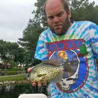 image of Chris Andresen with nice Crappie