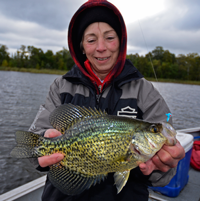 image of Daine Eberhardt with Cutfoot Sioux Crappie
