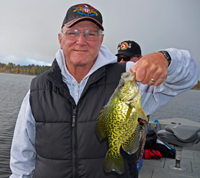 image of Roy with his first crappie
